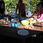 Barbecue at Birdsong Backpackers Accommodation