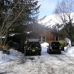 Front of Alyeska Hostel
