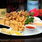 Fried Calamari with Marinara & Garlic Aioli
