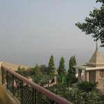                    The temple and Ganga -view from my balcony of my room
