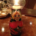 My Matryoshka and I at Michelangelo Lounge :)