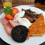 A traditional full English breakfast at Athole...