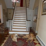                    Kasey &amp; Em in Ascot House&#39;s front hall