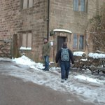 The Barley Mow very inviting in the snow