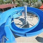 the pool whit slide