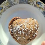 Delicious heart shaped muffins baked by Pat.