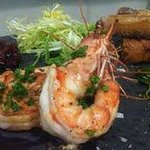                   pork belly and prawns