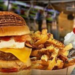 Famous Burger and Fries