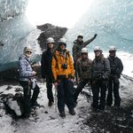 Groups photo on the glacier.