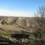 View from Hotel Relais San Maurio Piemonte on a cold sunny day in February