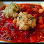                    Josef&#39;s Vegetable Goulash with Parsley Dumplings...So Tasty!