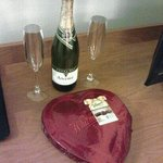Champagne and chocolates for our romance escape package