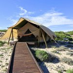 Your private tent on the beach