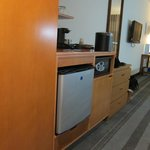                    Mini fridge / coffee maker area in room