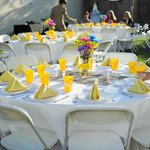 Reception in Courtyard