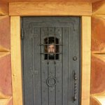 Copper Cabin door