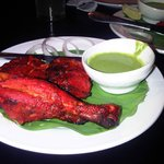                    Tandoori Chicken, succulent, full of flavor, cooked to perfection!