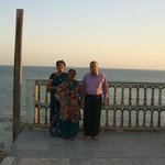 A view of the Arabian sea in front of the Lords Eco Inn Dwarka .