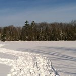                                      Ice fishing and snowshoeing over Ellis Lake