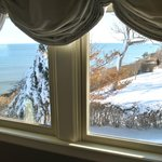 Winter view from Seaview Suite sitting room