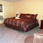 Our newly remodeled king room has one king bed, mini-fridge, microwave & coffee maker.