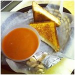 classic! grilled cheese and tomato soup