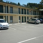  Main accommodation block and carpark