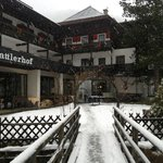                                                       Hotel Trattlerhof approached from the walk