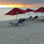                    Dover Beach rent 2 chairs and an umbrella for $10US per day