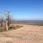                    View from atop Enchanted Rock close by