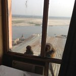 would be a nice view of the Ganges but for these scary monkeys