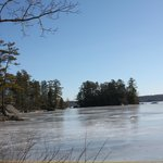                    Frozen Alamoosook Lake