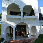 """view of """"villa 5,"""" ours is the lower level"""