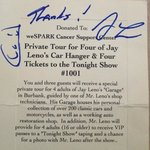 thank you Jay Leno and Staff