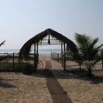                   entrance to beach