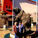                    Bronze statues at Thunder Valley Resort