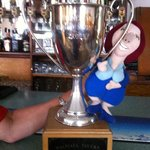 Waipiata Hotel Dog Barking Competition trophy