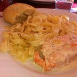                   Salmon with tagliatelle