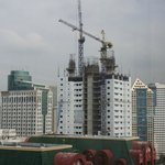 View towards Manila Bay, another high rise completion date 2013
