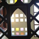 Multicolored glass window