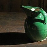  Green jar with shadow