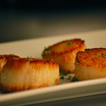 Pan seared Stonington sea scallops