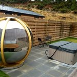 Cosy seating area & hot tub!