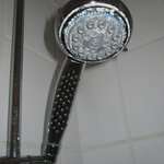 Shower nozzle encrusted