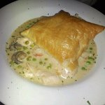 Chicken Pot Pie in Large Puff Pastry.