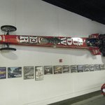 Dragster mounted on the wall.