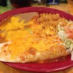 Beef enchilada & chicken burrito