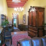                    The main hallway with antique furniture