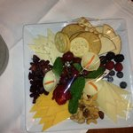 Our complementary champagne and cheese platter