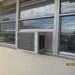                    no curtains on windows...air conditioners??